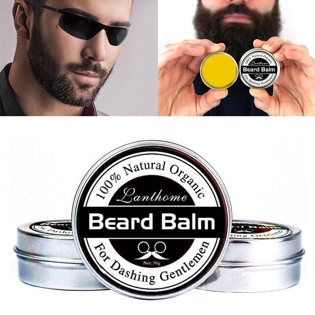 Y & W & F Profesyonel Doğal sakal uzatma Kremi Balsamı Organik Bıyık Kremi Sakal Balmumu Bakım Pürüzsüz Şekillendirici TSLM2