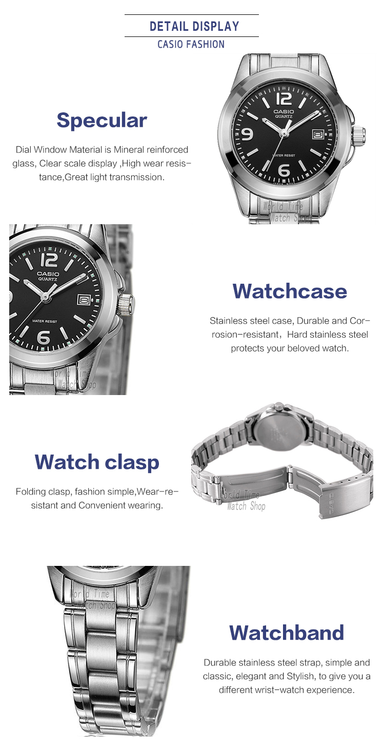 Casio Watch Analogue Womens Quartz Simple And Stylish Steel Ltp 1095e 7b Womenamp039s 4