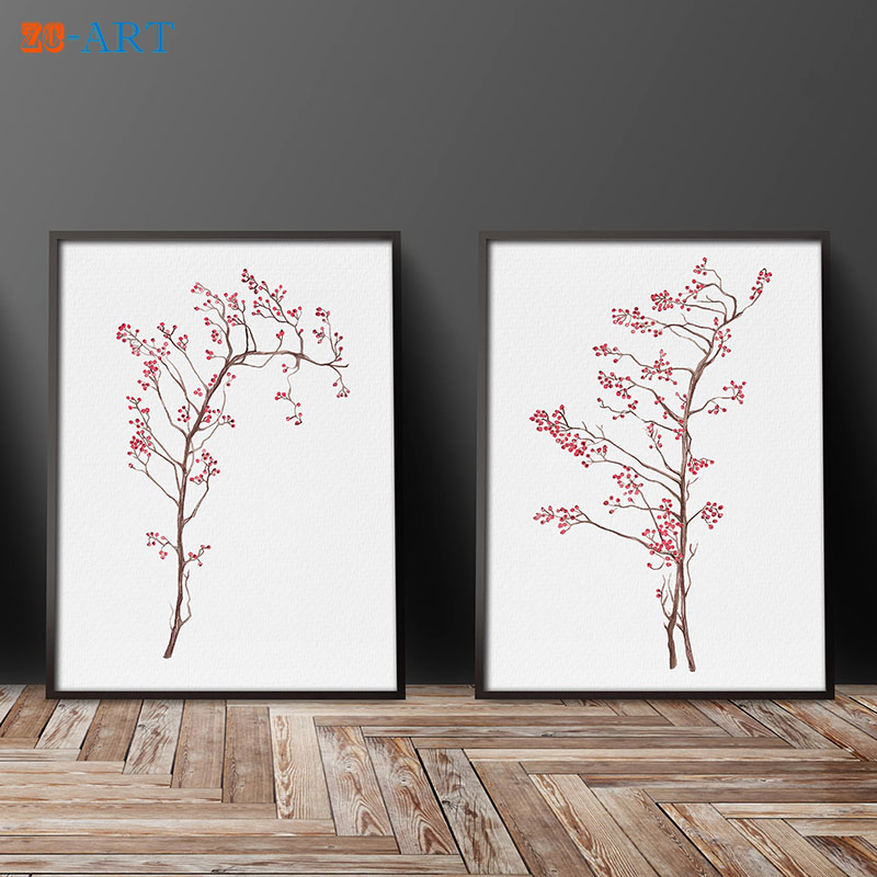 Aliexpress Com Buy Mirrors Framed Watercolor Rose Hip