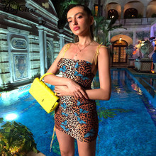 Hugcitar vestido bodycon de leopardo, feminino, costas nuas, sexy, minivestido, moda verão 2019