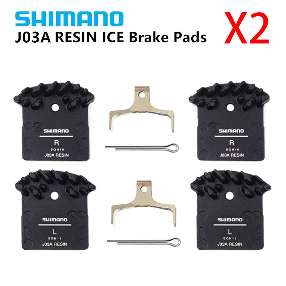 Shimano J03A Resin Cooling Fin IceTech Disc Brake Pads XT XTR SLX Deore as J02A