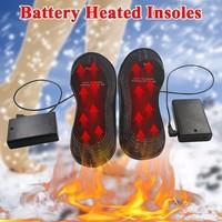 ขนาด38-46 Insolesอุ่นแบตเตอรี่ไฟฟ้าขับเคลื่อนแผ่นรองเท้าEVAฤดูหนาวเดินกลางแจ้งอุ่นเท้าInsoles