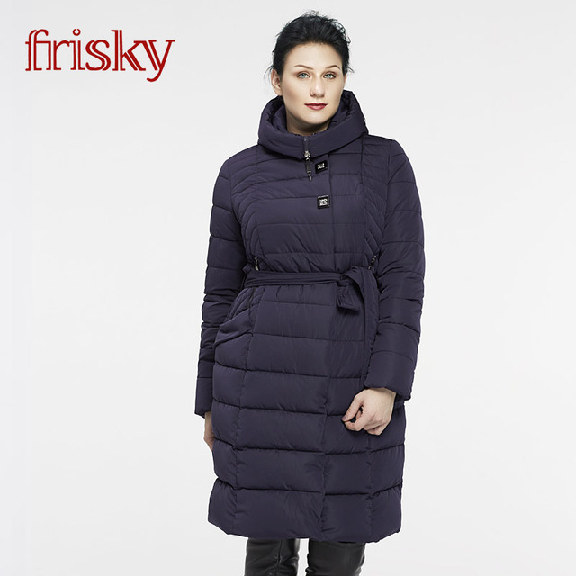 96852a012ffca 2017 Frisky New Women s Winter Coat Plus Size Jackets Thick Warm Wind Down  Jacket Female Fashion Casual Parkas FR8002
