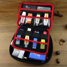 3.5 pulgadas Grande Carry Case Bolsa de Organizador de Cables puede poner 2 Unids HDD USB Flash Drive