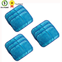 9pc Wet Microfiber Mopping Cloths Washable Reusable Mop Pads Fits IRobot Braava 380 380t 320 321