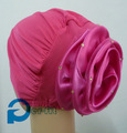 Hijab islámico cap diadema wrap bonnet flor interior hacia atrás cerca de 8 colores 12 unids/lote envío gratis