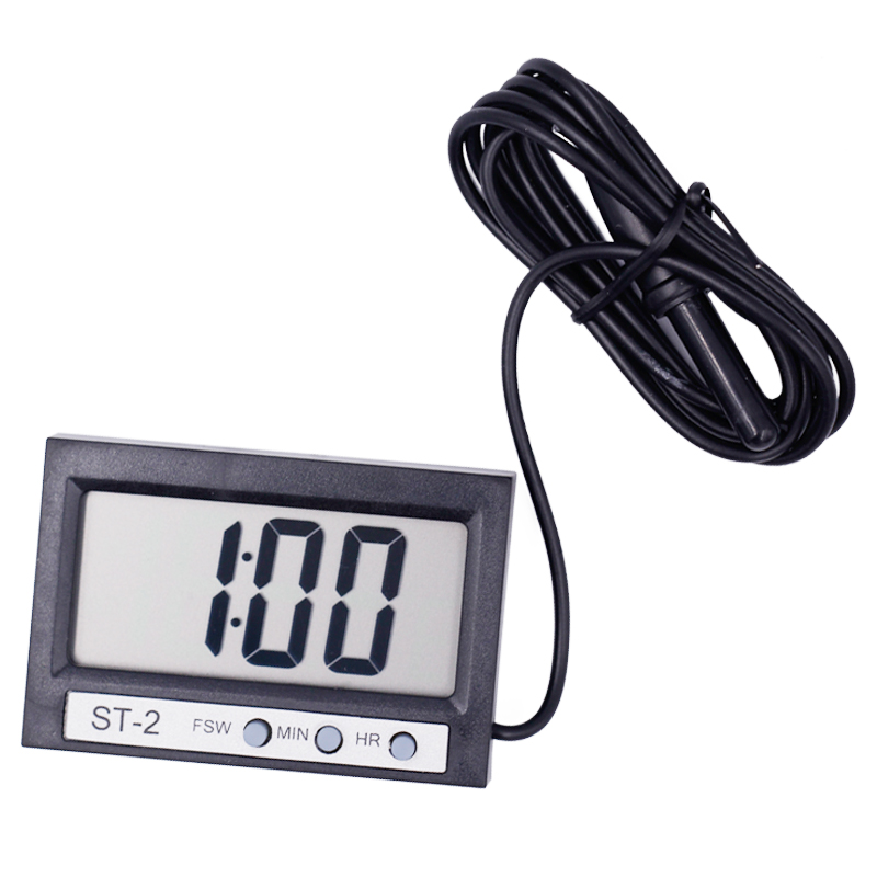 indoor Outdoor Thermometer Dual-Way Digital LCD display clock Temperature Meter Tester with large screen