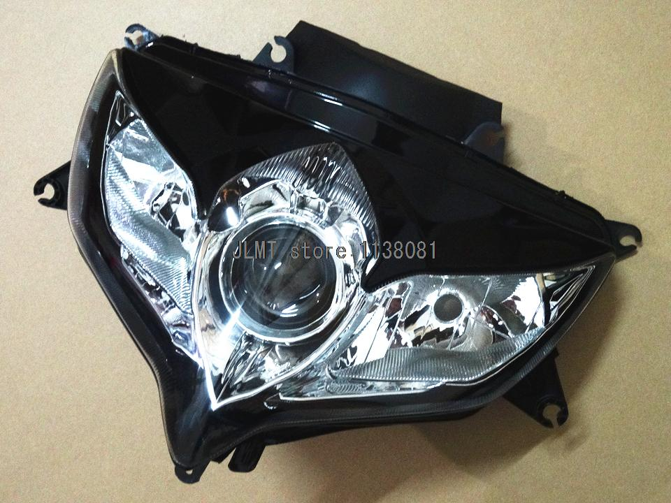 Frontlamp Headlight fit SUZUKI GSX R600 GSXR 750 GSXR750 08 09 10 GSXR 600 2008 2009 2010 high match injection mold fit for ducati 03 04 749 999 2003 2004 bodywork fairing kit brand logo decal 4 free gifts