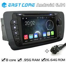 Octa Core 2 Din Android 6.01 Car DVD Automotivo For Seat Ibiza 2009 2010 2011 2012 2013 2014 With GPS Radio Rear View Camera