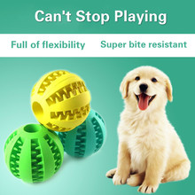 2019 Pet food ball dog toy elastic natural rubber peppermint feeding pet puzzle toys wholesale
