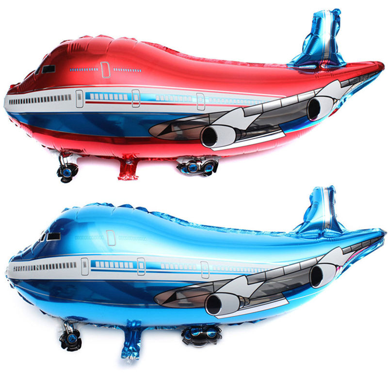 Plane Shape Balloon Airplane Helicopter Flying Saucer Plane Foil Balloons For Kids Birthday Party Decoration Balloon 31 Inch image