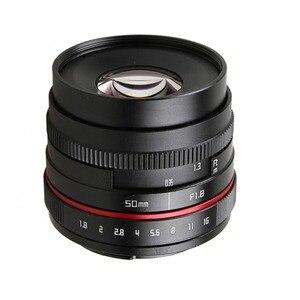 Image 3 - 50 mét f/1.8 APS C F1.8 máy ảnh Lens đối với Olympus Panasonic M4/3 M43 MFT EP5 OMD EM5 e M1 E M1 Mark II E M5 E M5 Không Gương Lật Máy Ảnh