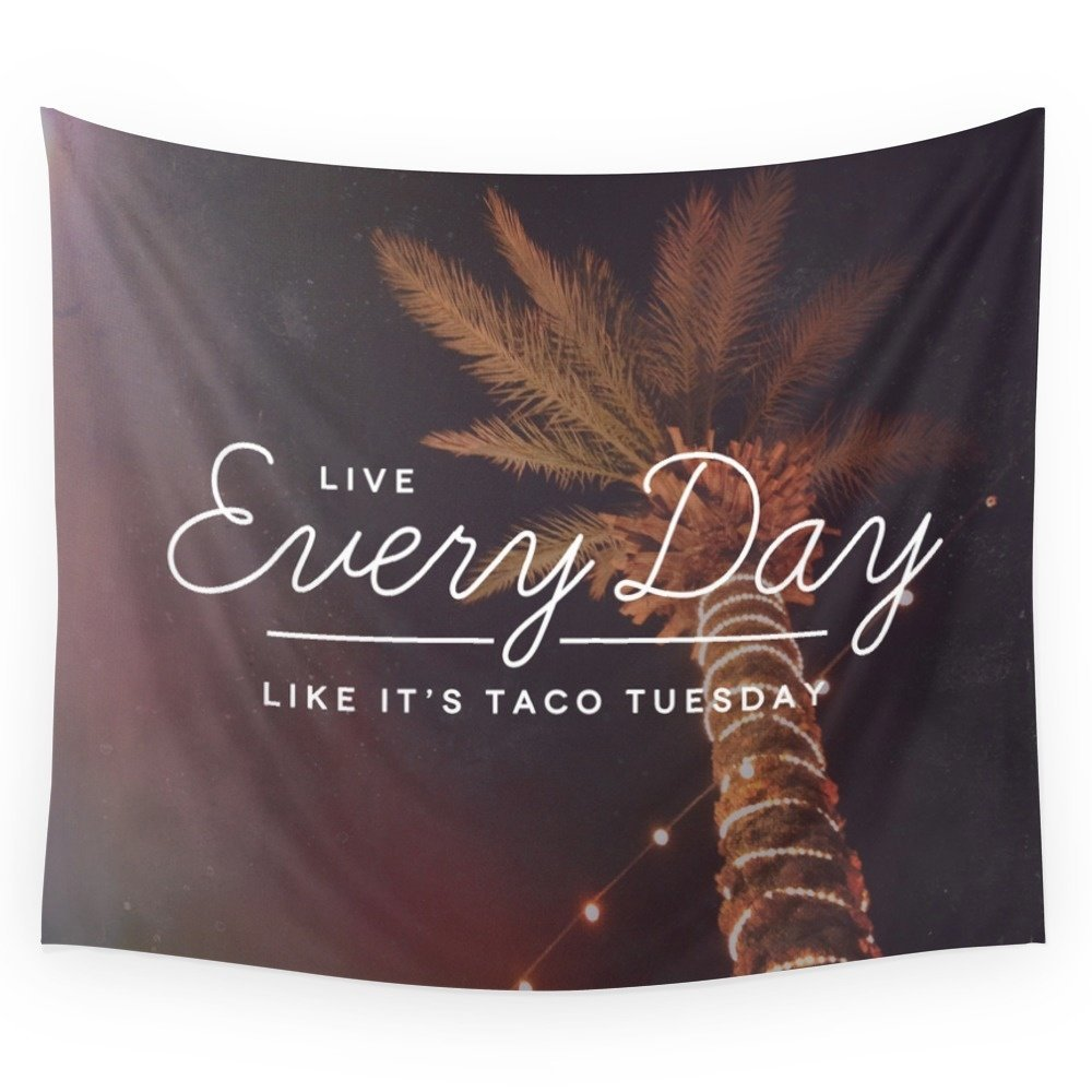 Taco Tuesday Wall Tapestry Home Room Wall Decoration Bedspread Dorm Cover