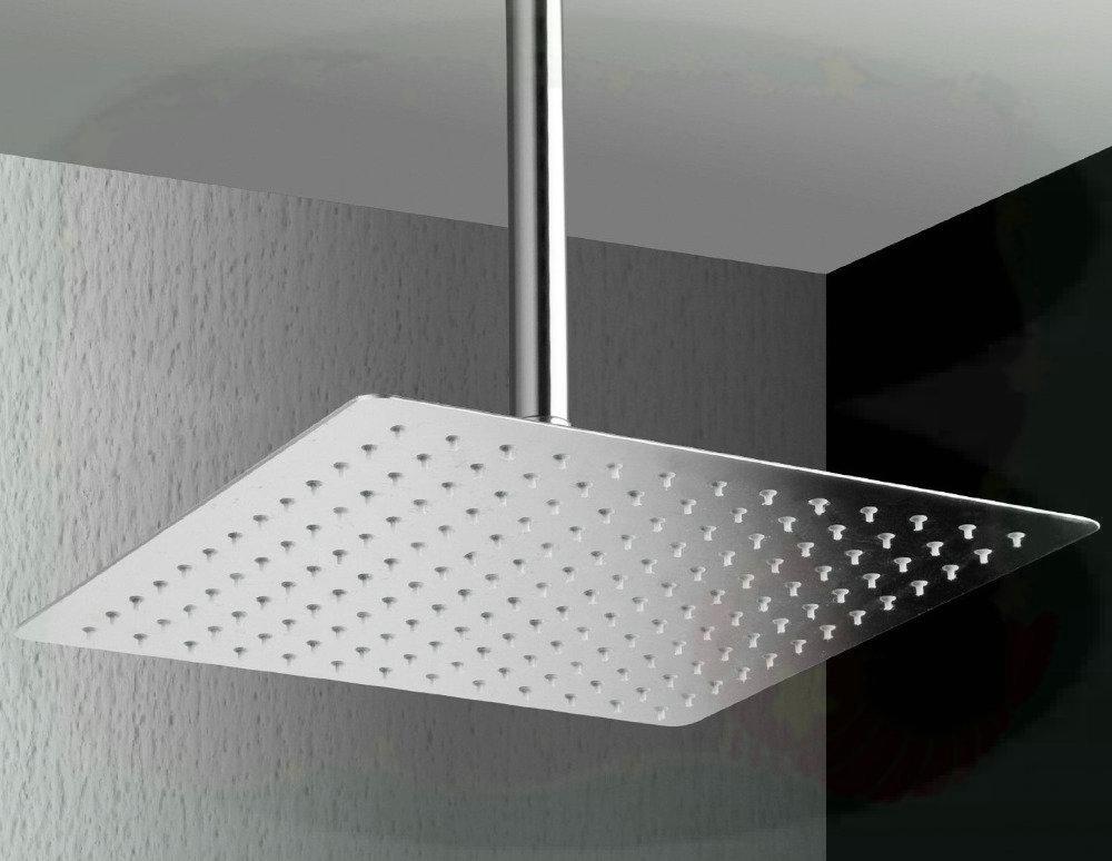 ... Factory Tap SPA Brand Rain16 16 Inch Solid Square Ultra Thin Rain Shower  Head, ...