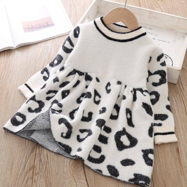 Bambino Maglioni 2019 bambini Maglie E Maglioni Del Leopardo di Inverno di Cristallo Bambini Maglioni Vestiti Del Bambino Maglione Per I Bambini