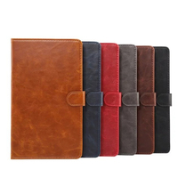 Crazy Horse Pattern Book Style Flip PU Leather Cover With Stand For Samsung Galaxy T377 Cover