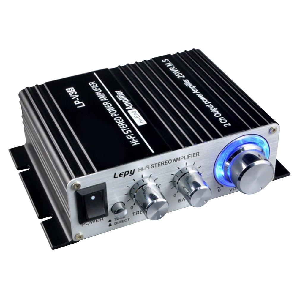 Gewissenhaft 50 W 12 V Digitale Mini Hallo-fi Stereo Power Auto Verstärker Mp3 Auto Audio Lautsprecher Mit 3,5mm Audio Eingang 3,5mm Mp3 Buchse Und Verdauung Hilft