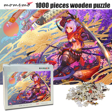 MOMEMO Anime Girl Adult 1000 Pieces Puzzle Wooden Exquisite Cartoon Pattern Jigsaw Puzzle 500/1000 Pieces Puzzle Game Home Decor momemo the cat and night sky pattern puzzle 1000 pieces wooden adult entertainment puzzle 1000 pieces puzzle assembling game