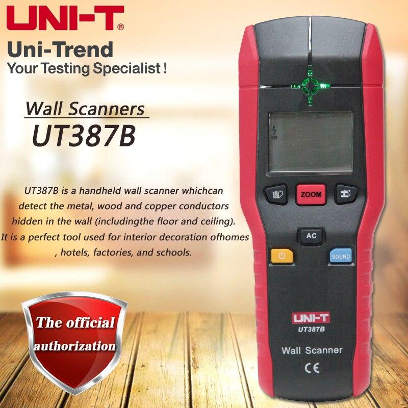 Détecteur de mur rapide tenu dans la main de UNI-T UT387B détecteur de métal/faisceau de bois/fil chargé détecteur de détection de mur multifonctionnel de mur