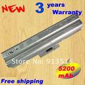 Prata 5200 mAh bateria para Sony BPS13 VGP-BPS13 / Q BPS13 / S VGP-BPL13 VGP-BPS13 VGP-BPS13 / S