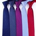 Accesorios de vestido de camisa de moda a rayas con cuello de 8 cm para hombres clásicos
