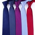 Clásico de los hombres de negocios formal corbata de boda 8 cm raya corbata camisa de moda accesorios de vestido
