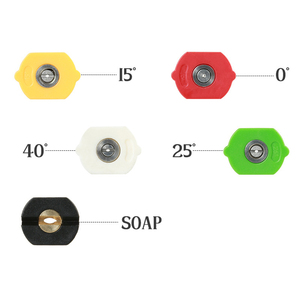 "Image 2 - 5pcs/Set 1/4"" Quick Connector Car Washing Nozzles Metal Jet Lance Nozzle High Pressure Washer Spray Nozzle"