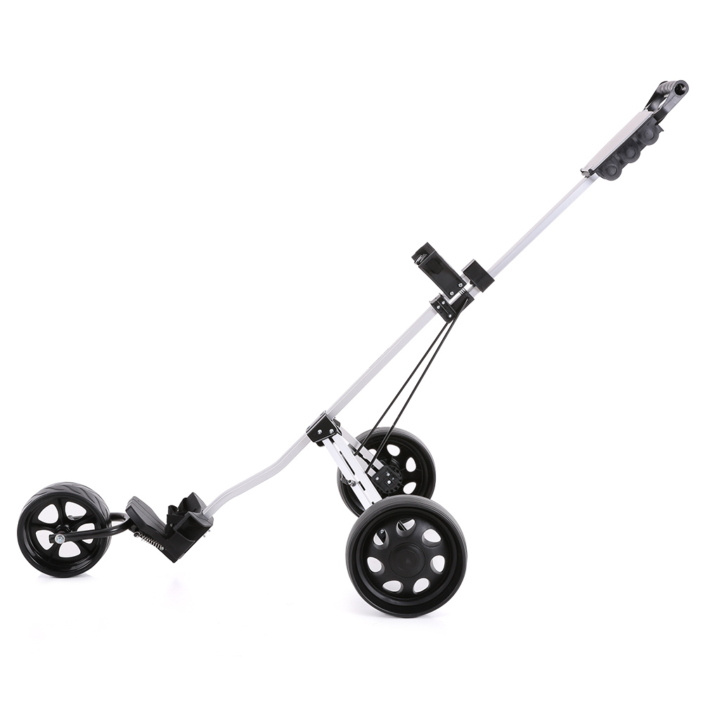 tomshoo golf cart foldable 3 wheels push cart aluminum pull cart Push Pull Bar package list 1 golf cart