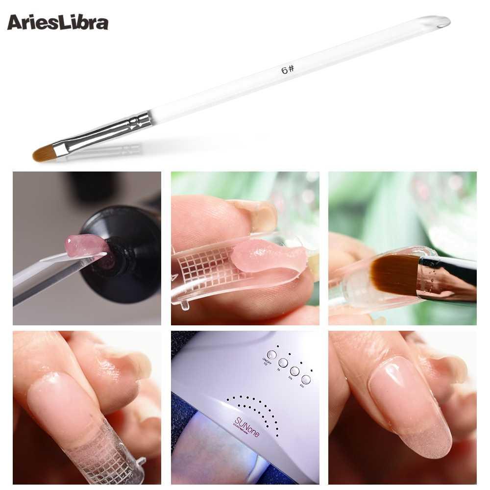 AriesLibra tırnak resim fırçası yuvarlak kafa UV jel şeffaf akrilik manikür kalem çivi aksesuarları boyama çizim aracı tırnak güzellik
