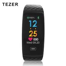 Tezer R17 умный Браслет Водонепроницаемый ЭКГ в реальном времени minitor динамический сердечного ритма спортивные Фитнес браслет Поддержка USB заряда часы