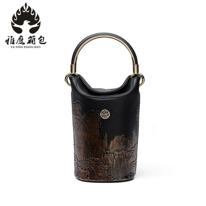 Top-handle Bags Fashion Bag For Women 2018 Cowhide Leather Shoulder Bags Luxury Handbags Women Bag Designer Crossbody 2018 new fashion top handle bags women cowhide genuine leather handbags casual bucket bags women bags rivet shoulder bags 836