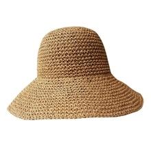 NEW-Fashion Lady Straw Hat Women Summer Sun Visor Sunhat Floppy Bucket Cap Female Woman Beach