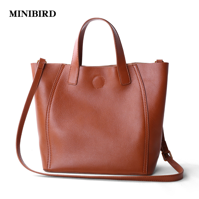 2017 New Women Casual Totes Lady Fashion Handbag Deluxe Genuine Leather Cowhide Crossbody Shoulder Bags Brown Black Shopping Bag weave genuine leather womens handbag hot handmade fashion black shoulder bag messenger crossbody bags large casual totes