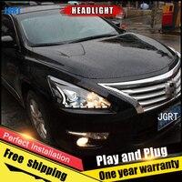 Car Style LED headlights for Nissan TEANA 2011 2014 for TEANA head lamp LED Lens Double Beam H7 HID Xenon bi xenon lens