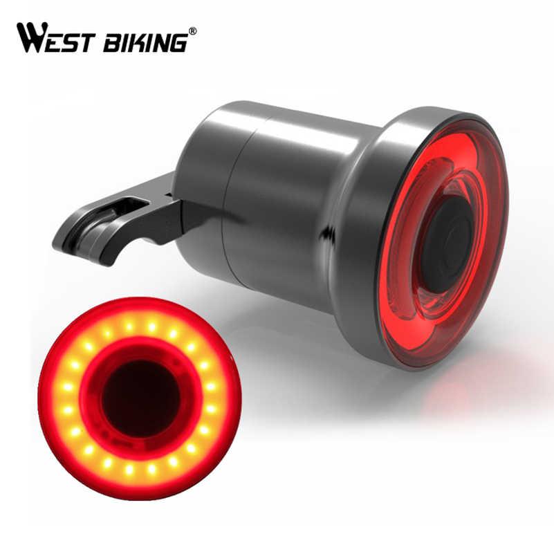 6c8bf6dff ... WEST ciclismo XLITE100 posterior de la bicicleta de luz USB recargable  de inicio/para Sensing ...