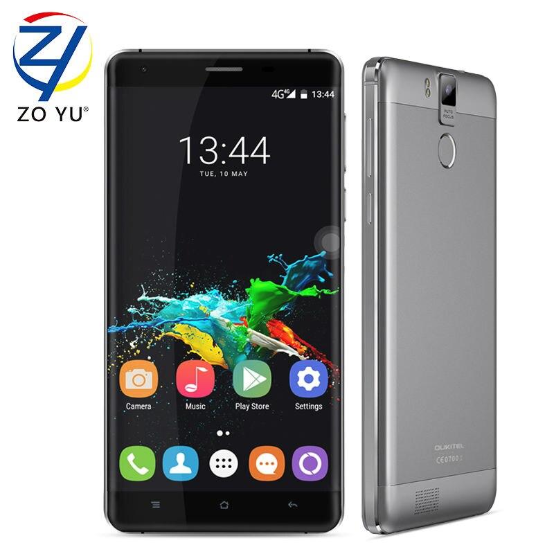Цена за Oukitel k6000 pro android 6.0 смартфон 4 glte мобильного 3 г + 32 г 16.0mp 5.5hd mt6753 1.3 ГГц 6000 мАч 2 8gdual sim карты мобильного телефона