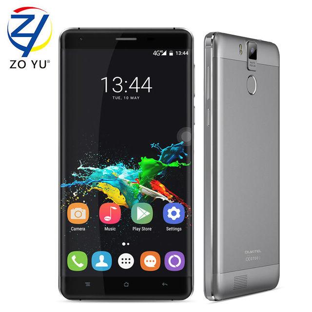 Oukitel k6000 pro android 6.0 smartphone 4 glte del móvil 3g + 32g de 16.0mp 5.5hd mt6753 1.3 ghz 6000 mah 2 8gdual sim tarjetas de teléfono celular