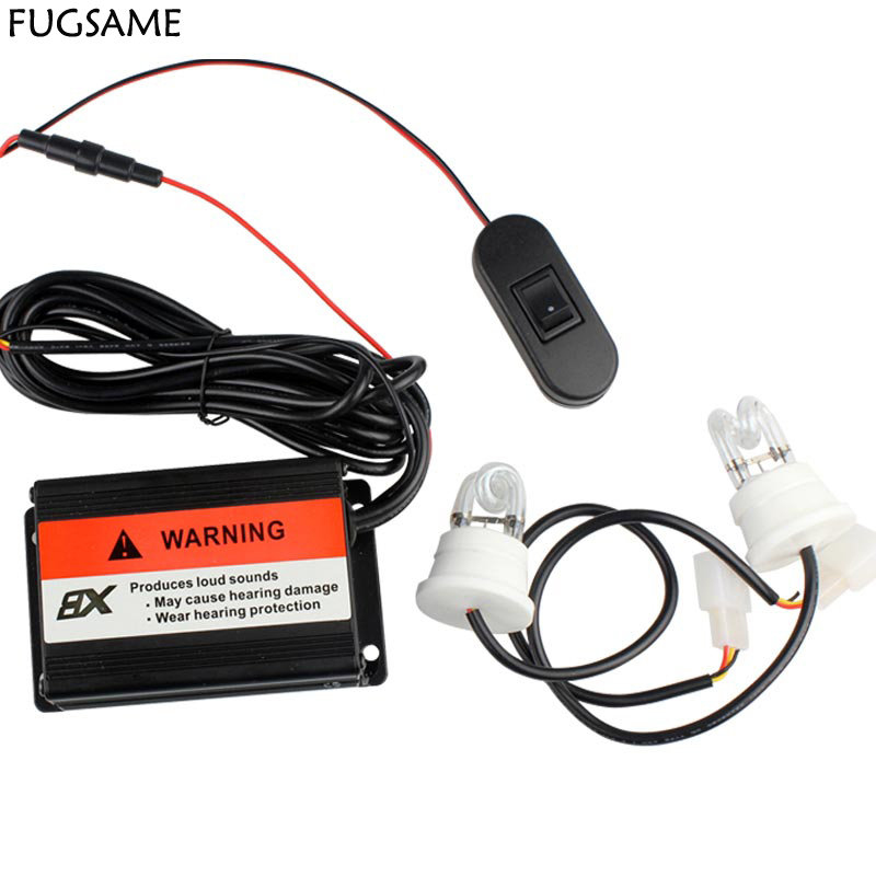 FUGSAME FREE SHIPPING Factory Direct NEW 60W 2 STROBE WHITE LIGHT KIT POLICE FIRE SYSTEM