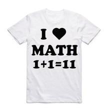 I Love Math T Shirt New Fashion Geek Math Summer Cool T-shirt Men's Casual Cool O-neck Short Sleeve Clothing