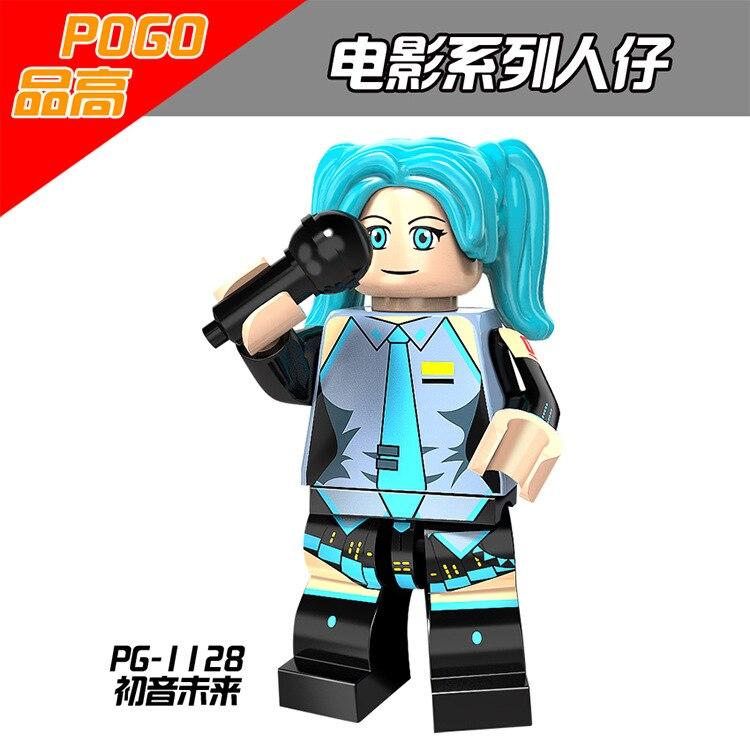 Japanese Anime Series Hatsune Miku Figure Building Blocks Figure Bricks Toys Gift Compatible With Bela