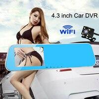 24h Parking Monitoring Full HD WiFi 1080P Car Dvr Camera Avtoregistrator Rearview Mirror Video Recorder Dual