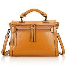 Cow Leather Women Messenger Bags European Fashion Shoulder Bags New 2016 Casual Women Bag