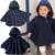 2016 Moda Smocks Combi Bebé Abrigos Niños Niñas Fleece Jumpers Manto prendas de Vestir Exteriores ropa Para Niños Poncho Del Cabo