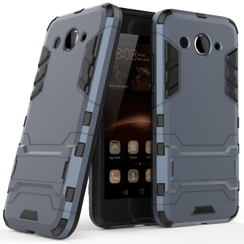 <font><b>Case</b></font> on for <font><b>Huawei</b></font> y3 2017 <font><b>Case</b></font> y5 2018 Rugged Rubber Bumper Hybrid Armor <font><b>Shockproof</b></font> Hard Cover y6 pro 2017 y6 <font><b>2019</b></font> <font><b>y7</b></font> prime image