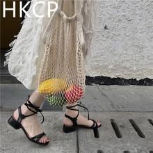 HKCP Fashion Sandals 2019 new female flat bottom student fashion Korean version simple joker small fresh bow tie C338