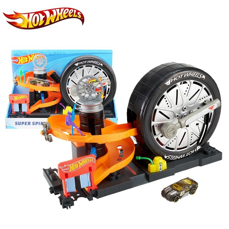 Hotwheels Brand Car Toy Super Rotating Tire Track 2018