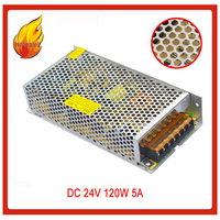 AC 110V/ 220V to DC 24V 5A 120W Voltage transformer Switching power supply for strip free shipping