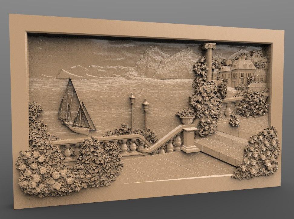 Us 60 3d Stl Model For Cnc Router Engraver Carving Machine Relief Artcam Aspire