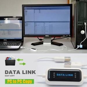 Image 2 - USB 2.0 szybki komputer PC na PC Online udostępnij synchronizację Link netto bezpośrednie przesyłanie danych mostek kabel LED łatwe kopiowanie między 2 komputerami