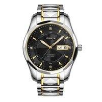 Tungsten steel Automatic Watch Men GUANQIN Retro Mechanical watches men Calendar Week Sapphire Luminous Waterproof Montre homme